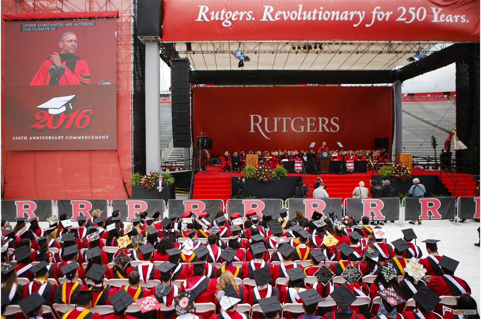 Rutgers Commencement; New Brunswick, NJ.